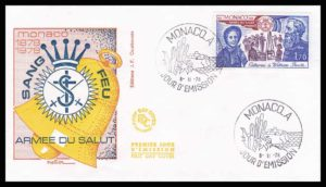 SA 10.2 - Salvation Army FDC Monaco 1978