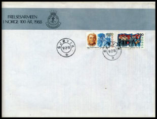 Salvation Army FDC Norway 1988