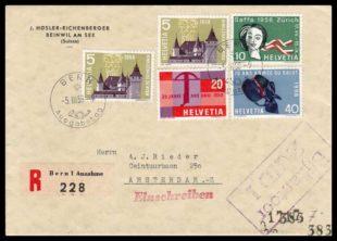 Salvation Army FDC Switzerland 1958