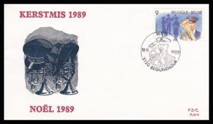 Salvation Army FDC Belgium 1989